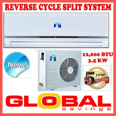 New 12000Btu 3.5Kw  Split System Reverse Cycle Air Conditioner  +Timer & Remote