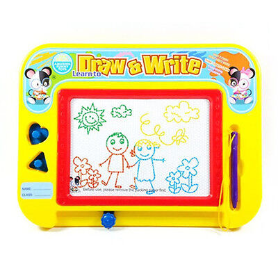 Erasable Magnetic Drawing Board for Kids with Stamps Shapes and Pen Doodle Toy