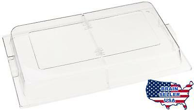 Winco C-DPFH Polycarbonate Dome Hinged Cover, Full Size, New, Free Ship
