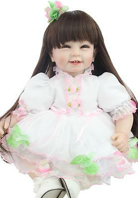 Beautiful 55 CM Handmade Lifelike Baby Doll Silicone Vinyl Reborn Newborn Dolls