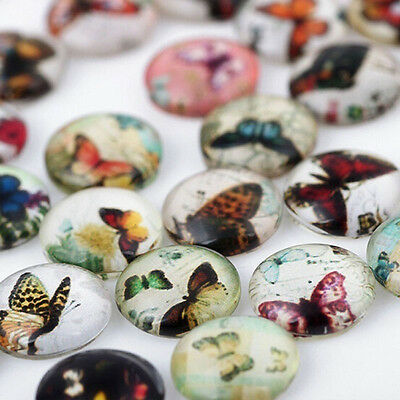 10PCS Fix DIY  Colorful Butterfly Floating Charm Glass  Locket  Living Memory