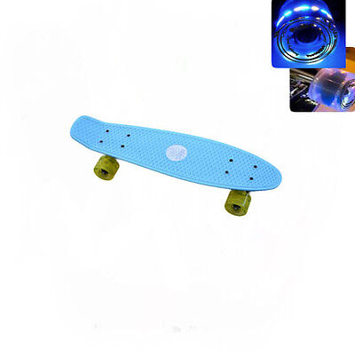 Easy People Skateboards Sharky L. Blu Complete penny style Light up wheel Vinyl