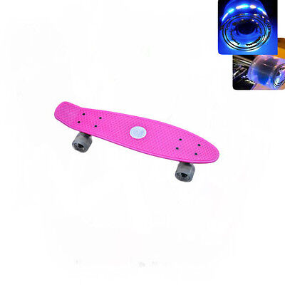 Easy People Skateboards Sharky Pink Complete penny style Light up wheel Vinyl