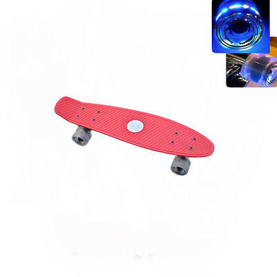 Easy People Skateboards Sharky Red Complete penny style Light up wheel Vinyl