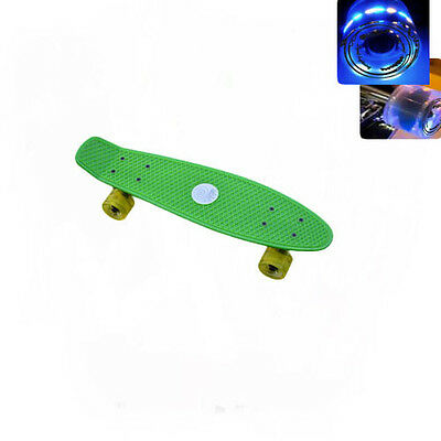 Easy People Skateboards Sharky Green Complete penny style Light up wheel Vinyl