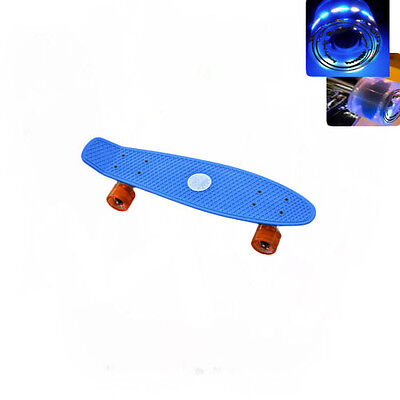 Easy People Skateboards Sharky Blue Complete penny style Light up wheel Vinyl