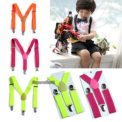 Children Toddler Highly Stretchable Elastic Adjustable Braces Y-back Suspender