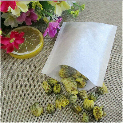 100Pcs/Lot Empty Tea Bags with String Heal Seal Filter Paper for Herb Loose Tea