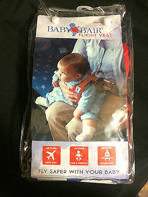 NEW!! Baby B'Air AIRLINE FLIGHT VEST Airplane SAFETY Seat Belt FAA Harness SMALL