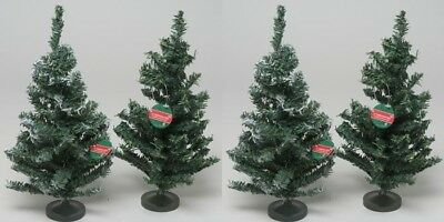 Lot Of 8 Canadian Pine 1 Foot Artificial Pine Christmas Trees Tabletop Green