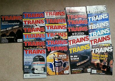Trains magazines 1999 - 2002 25 issues
