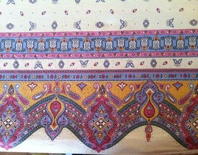 Marat d'Avignon French Country Provencal 100% Cotton Tablecloth 58x90 Ecru Pink