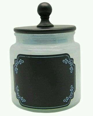 Black and White Apothecary Glass Jar