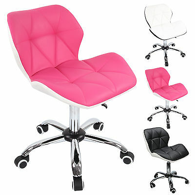 Office Swivel Computer Desk Mesh PU Leather Study Chair Height Adjustable Wheel