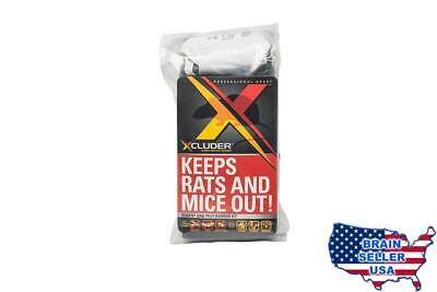 Xcluder Rodent Control Steel Wool Fill Fabric DIY Kit, Large, New, Free Ship
