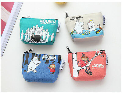 Moomin Characters Little My Moomintroll  Canvas Zipper Coin Case 4 choose 1