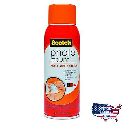 Scotch(R) Photo Mount (TM) Photo-safe Spray Adhesive, 6094, 10.3 oz, New