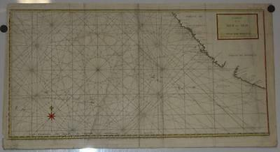 California Mexico Pacific 1784 Anson Ocean Antique Copper Engraved Sea Chart