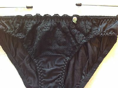 Vintage Maidenform Chantilly Nylon and Lace Bikini Panties S Small ILGWU