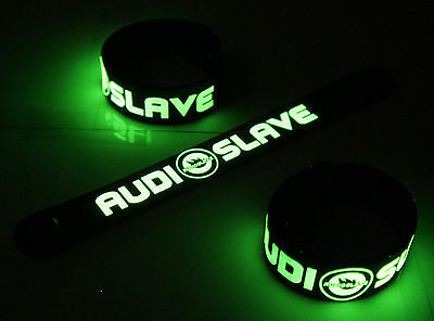 AUDIOSLAVE New! Glow in the Dark Rubber Bracelet Wristband  vg384