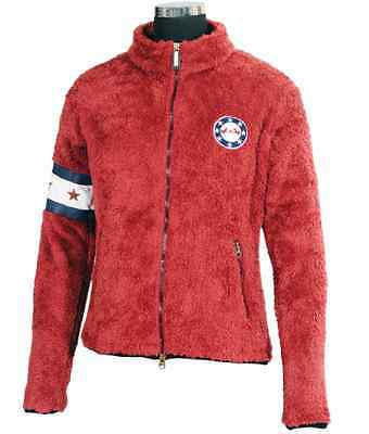 NEW Equine Couture Childs High Pile Fleece Stars & Stripes Jacket - Red S, M, L