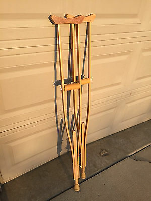 Vintage Wooden Crutches - Great Color