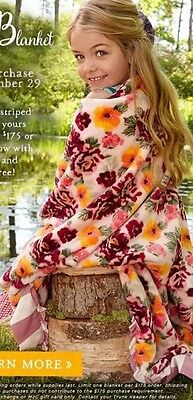 Matilda Jane Once Upon a Time Floral Promo Blanket NWT Ready To Ship Promo