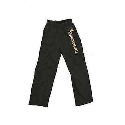 Browning Over-Trousers Black Fishing Bottoms Pants Waterproof M-Xxxl