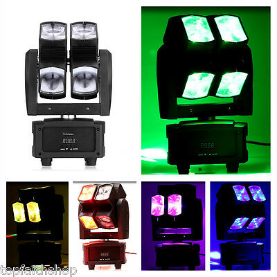 80W LED Moving Head Stage Light RGBW 4 IN1 Beam Wash Spot Light DMX512 DJ Bar UK