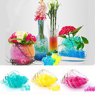 Colorful 500PC Crystal Mud Soil Water Bead Bio Gel Ball For Flower Weeding Decor