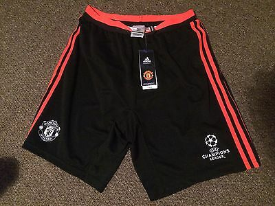 Manchester United Shorts Medium Player Issue adidas champions league black