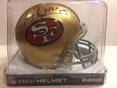 FRED DEAN Auto Mini Helmet JSA AUTHENTICATED Signed THROWBACK 49ERS