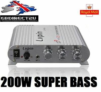 LP-838 Super Bass Mini Hi-Fi 2.1 Channel Stereo Amplifier AMP Subwoofer White