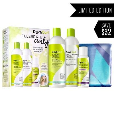 DevaCurl Curly Hair Care Holiday Shampoo and Conditioner Kit. Delivery is Free