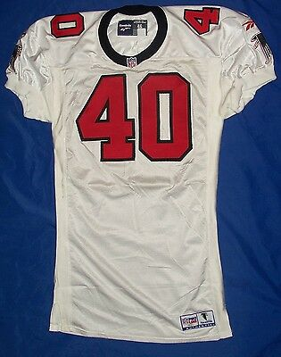 1997 Atlanta Falcons REAL GAME ISSUED Football Jersey - GRENIER #40