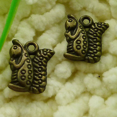 Free Ship 80 pieces Antique bronze squirrel charms 16x13mm #2566