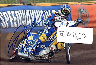 Signed Speedway Photograph. Andreas Jonsson