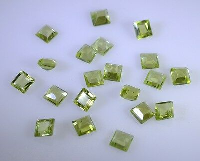 peridote faceted Green gemstone supplier Round 4 X 4 mm 1pc AU