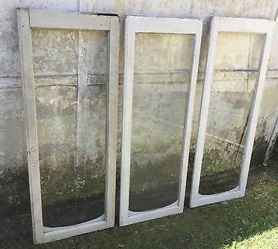 3 X Vintage Timber And Glass Windows Silky Oak