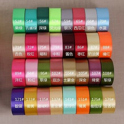 25 Yards Of Satin Ribbon 40MM 1 1/2'' Mut Colours Sold In Roll Craft Wedding