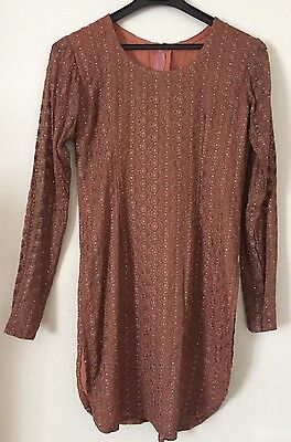 Brand new women's Indian Brown Patiala dress - Size Small