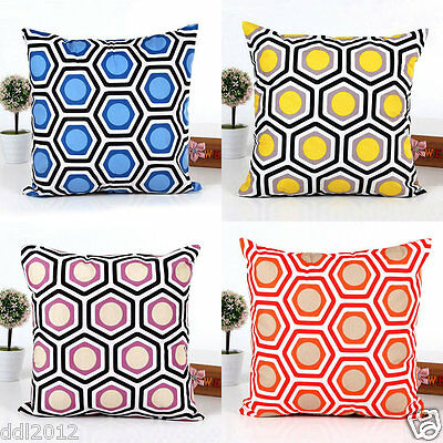Vintage Geometric Throw Waist Pillow Case Cushion Cover Sofa Bed Home Decor