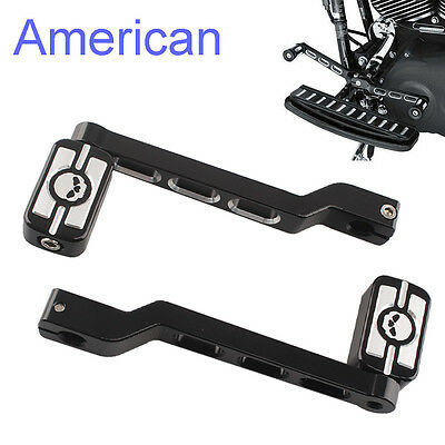 Skull CNC Edge Cut Heel/Toe Shifter Lever&Pegs For Harley Touring Softail Glide