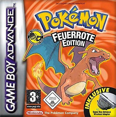 Nintendo GBA Game Boy Advance Spiel POKEMON FEUERROTE  EDITION