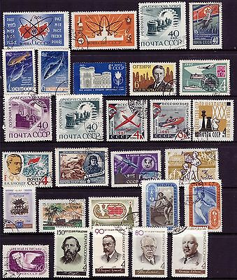 Russia 1956-1963 CCCP USSR stamps OLD CTO Used Rare Mix Sets