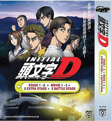 DVD Anime INITIAL D Complete Stage 1-6 + 3Movie + 2 Extra Stage + 2 Battle Stage
