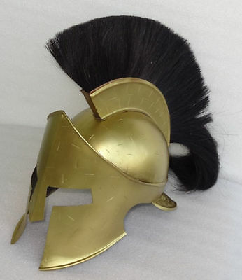 Spartan King Leonidas 300 Movie Helmet with plume for for SCA larp role play SCA