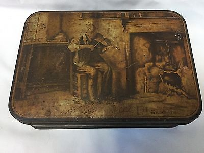 Old Sweetacres Advertising Tin Old Musician