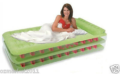 Portable Green L191*W99*H47CM Pile Coating Single Mattress/Air/Inflatable Bed