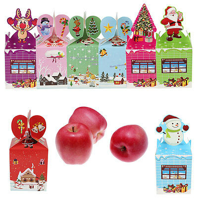 100/50/20Pcs Candy Cake Cookie Small Christmas Gift Boxes for Xmas Wedding Party